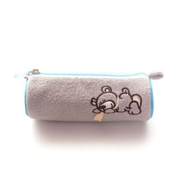 "Wholesale Nici Plush Pencil Case - NICI Collection Grey Lying Bear Plush Pencil Bag Case Stationery 7"" New"