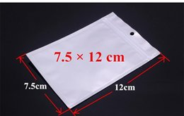 Wholesale Bag Articles - Self Seal Zipper Retail Plastic Packaging Bag with Hang Hole Poly OPP Small Adorn Article Jewelry Acessories Package Bags