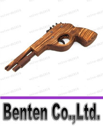 Wholesale Band Toy - LLFA7885 Classical Rubber Band Launcher Wooden Pistol Gun (Good Christmas Toy)