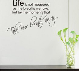 Wholesale Study Quote - positive life quote wall stickers home decorations diy removable vinly wall decals study rooms wall decals