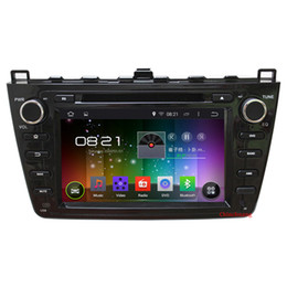 Wholesale Map Mazda - Quad Core 1.6G CPU Android 4.4 Car DVD for Mazda 6 2008-2012 with HD1024*600 Radio RDS Canbus Mirrorlink WIFI+Free 8G Map