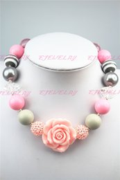 Wholesale Lovely Beaded Necklace - Colorful New arrival candy color lovely beads bubblegum necklace for children hot CB032