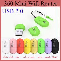 Wholesale Wholesale Wi Fi Tablets - 360 Mini Wifi Router Portable Chinese Brand USB 2.0 Soho Built-in Antenna Notebook Laptop Mobile Phone Tablet PC Hot Sale OTH115