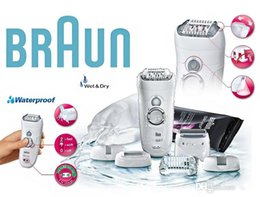 Wholesale Braun Shavers New - Braun Silk-épil 7 Epilator Pro7681 Wet and Dry Rechargeable Shaver New 5pcs