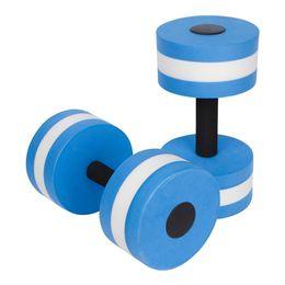 Wholesale fitness pools - Wholesale- 1 Pair Water Aerobics Dumbbell Aquatic EVA Barbell Aqua Fitness Pool Exercise Accessory B2Cshop