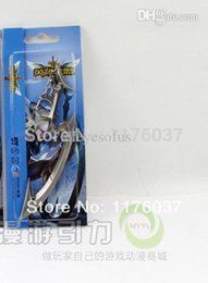 Wholesale Diana Weapon - Wholesale-Vogue Game League Of Legends LOL Scorn Of The Moon Radiant Diana Weapon Key Ring Metal Pendant Chains