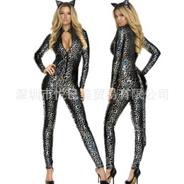 Wholesale Christmas Sexy Suit - Sexy Cat Girl Cos Cat Suit-dress Christmas Bar Party Adult Clothing Nightclub Ds Show Uniform Temptation
