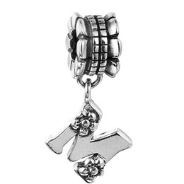 Wholesale brand fuse - 100% 925 Sterling Silver Beads Fit Pandora Charms Bracelet DIY Brand Fashion Jewelry Alphabet Dangle M 013