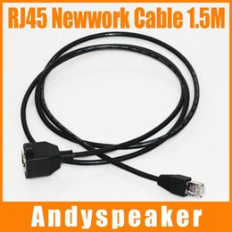 Wholesale Ethernet Rj45 Patch Cable - 1.5M RJ45 Ethernet Network Cable Patch Cable Male to Female High Speed Cable 1.5M Black 100pcs up