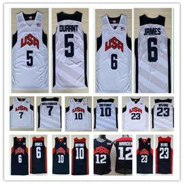 Wholesale Usa Olympic Basketball - 2012 Olympic Games USA Dream Team #5 Kevin Durant #6 LeBron James 12#James Harden Jersey 7# Westbrook 10#Kobe Bryant Basketball Jerseys