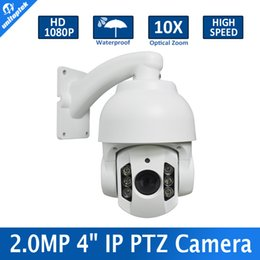 Wholesale Outdoor Mini High Speed Ptz - 4'' Mini 1080P High Speed Dome 2MP Dome PTZ IP Camera 10x Optical Zoom NightVision 6Pcs Array IR 60m Waterproof Outdoor P2P View