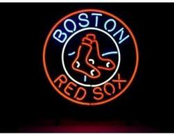 """Wholesale Room Neon - HOT BOSTON RED SOX LOGO NEON SIGN HANDICRAFTED REAL GLASS TUBE BASEBALL GAME ROOM ADVERTISING DISPLAY NEON SIGNS FREE DESIGN 19""""x15"""""""