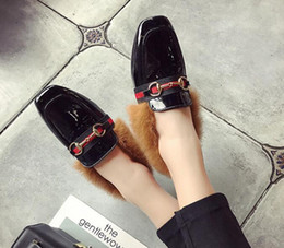 Wholesale Woman S Heels - New 2017 autumn fashion embroidery flat mule shoes Korean version of the comfortable wild lazy single shoes female fashion dress s