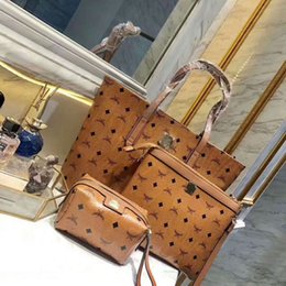 Wholesale Shoulder Bag Print - 3pcs set Women Fashion Handbags PU Leather Printed Casual Totes Crossbody Shoulder Messenger Bag Female Pouch