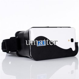 Wholesale Google Eye Glasses - DIY 3D Google Cardboard Glasses Private Cinema Virtual Reality Left and Right Eye 3D Video Suitable Universal for Smart Phone 1pcs