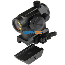 Wholesale Telescopic Sights Free Shipping - Tactical Reflex Red Dot Sight Telescopic Scope With QD 20mm Picatinny Mount New Free Shipping order<$18no track