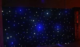 Wholesale Fantasy Backdrops - 20 Square Meters Fantasy Star Blue-White Color LED Curtain Wedding Stage Backdrop Cloth With DMX 512 Controller For Wedding Decoration