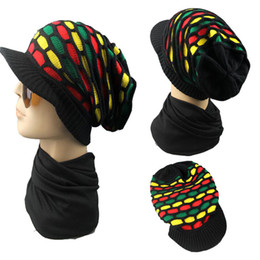 Wholesale wool shorts for women - Hip Hop Stingy Brim Hats Four Color Lattice Splicing Short Eaves Cap Wool Knitting Baggy Hat For Men And Women 9jb B