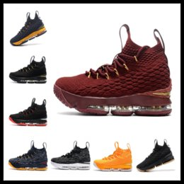 Wholesale Increasing Muscle Size - Top Quality LeBron 15 kids women for sale free shipping LeBron James 15 Basketball shoes store size 36-46