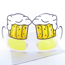 Wholesale Eyeglasses Drinking - Novelties Party Sunglasses Party Club Beer Funny Eyewear Glasses Drinking Glasses Party Accessories Holiday Eyeglasses Free Ship