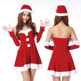 Wholesale Costume Santa Claus Woman Sexy - Doll collar Christmas new sexy lingerie skirt role-playing temptation bunch of sexy underwear