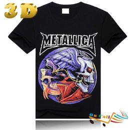 Wholesale Low Priced Men Tees - Blusas Femininas 2014 Manga Curta Real 3d Tshirts Random Metallica Skull Tee Shirts Printed Punk Buy Tshirt Supplier Lower Price