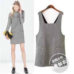 Wholesale Children S Winter Skirts - JXZ autumn and winter clothing wholesale new Houndstooth stamp vest skirt straight child dress