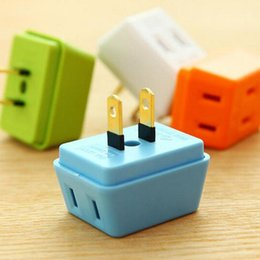 Wholesale Wall Socket Electrical - Portable Electrical Outlet Wall Plug Travel Power Strip Triple Tap 3 in 1 Splitter Power Socket adapter