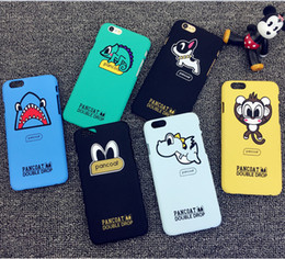 Wholesale Dog Design Iphone Cases - Fashion Cartoon PC Scrub Design case For iphone 6s iphone 6 plus animal monkey dog dragon giraffe monster Cell Back Cover