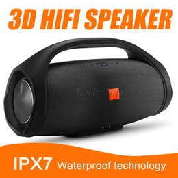 Wholesale Hifi Outdoor Speakers - Nice Sound Boombox Bluetooth high quality Wireless Speaker Stere 3D HIFI Subwoofer Handsfree Outdoor Portable Stereo Subwoofers with package