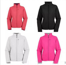 Wholesale Ladies Hoodie Fleece Jackets - New Brand Womens Fleece Apex Bionic SoftShell Jackets Outdoor Windproof and Waterproof Breathable Ladies Hoodies & Sweatshirts