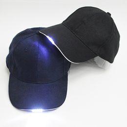 Wholesale Glow Dark Sun - Glow In The Dark LED Baseball Cap Sun Hat Hip Hop Hat Outdoor Sports Lamp Light