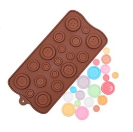 Wholesale Button Chocolate Mold - Silicone Cake Mould Button-shape Decorating Fondant Cookie Chocolate Mold Baking Sugar Craft Tool