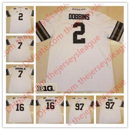 Wholesale Ncaa Orange - NCAA Custom Ohio State Buckeyes #2 JK Dobbins 16 Barrett IV 25 Mike Weber Jr. College 2017 White Gray With Black Camo Jerseys