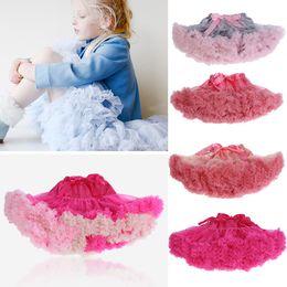 Wholesale girls colorful dance tutu - Girl TUTU Skirts 2 Layer Soft Gauze Colorful pettiskirt Dance Skirt 0-10 Y 20 Colors 4 P L