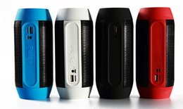Wholesale Big Box Speakers - Pulse speaker pill bluetooth speaker Bluetooth audio wireless big sound box support TF card portable Speakers with LED light 35pcs
