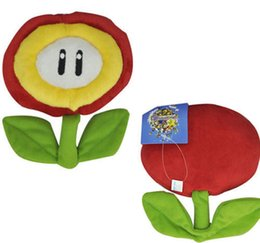 Wholesale Mario Plush Fire Flower - Wholesale-Brand New Super Mario Figure Plush Red Fire Flower 7in Stuuffed Toy Soft Doll