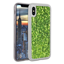 Wholesale Iphone Case Shimmering - Back Cases For iPhone X Soft Flexible Transparent TPU Pasting Glitter Shimmering Powder Rough Surface