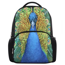 Wholesale Designer Bags Peacock - Wholesale-VN 2015 new peacock bags fashion priting school backpack designer brand backpacks for teenagers casual backpack school bags