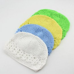 Wholesale Childrens Crochet Winter Hats - 2015 fashion Winter Warm cap hat Baby Girl Infant Toddler Childrens Hand Crochet Beanie knitted Hats Caps Accessories for kids christmas