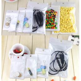 Wholesale Candy Films - White Translucent Pearl Film Ziplock Bag Clear Front Pearlised Film Plastic Original Virgin Hair Bag LZ0545