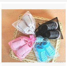 Wholesale Socks Floor Booties - Baby Infant Shoe Socks new born baby Boys Girls CRIB SHOES BOOTIES SOCKS boot socks 0-6M Anti-slip floor socks 7 colors to choose