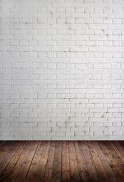 Pared de ladrillo y piso de madera Tema Vinilo Fotografía personalizada Telones Fondo de muselina Fotografía ZD-09 desde fabricantes