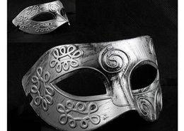 мужская маска марди Скидка 2017 Прибытие мужская ретро Маска Хэллоуин маскарадные маски Марди Гра Венецианский танец партия лицо маска смешанный цвет PJ0041B