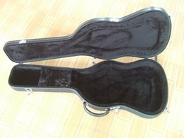 Wholesale Hard Cases Guitar - custom shop black artificial leather guitar hard shell case free shipping