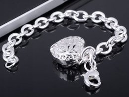 Wholesale Beaded Jewelry Prices - Free Shipping hot sale women lady 925 Sterling Silver Lowest price fashion jewelry lovely heart pendant bracelet best gift