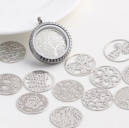 Wholesale Hollow Box Lockets - Diy accessories factory direct hollow circular floating Locket with box Accessories 13 models mixed batch