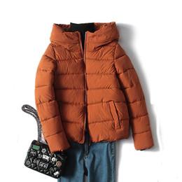 Wholesale Women Nice Winter Coats - Nice Parkas Female Women Winter Snow Hooded Short Feather Cotton Coats Down Cotton Coat Winter Jacket Womens Outwear Slim Coats