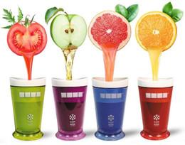 Wholesale Milkshake Cups - Zoku Ice Cream Slush & Shake Maker Multicolorful Slushy Fruit Juice Smoothie Cup DIY Milkshake Smoothie Cup
