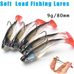 3d fishing lure eyes Coupons - 5Pcs Lot 3D Eyes Lead Fishing Lures With T Tail Soft Fishing Lure Single Hook Baits artificial bait jig wobblers rubber 80mm 9g